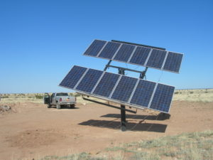 Solar Panels at Chevelon Canyon Ranch - 700 Foot deep household solar water well - 2007